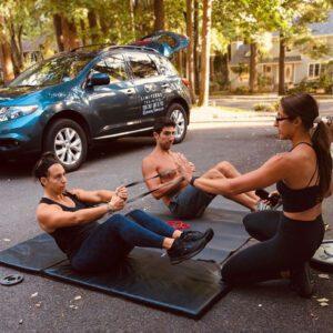 Fitness training group